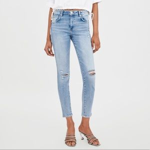 Zara Compact Mid Rise Skinny Jeans